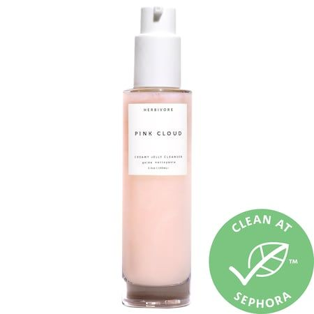 Pink Cloud Rosewater + Tremella Creamy Jelly Cleanser, HERBIVORE, cherie