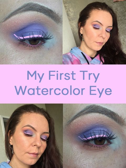 Try watercolor eye makeup for the first time & not so bad