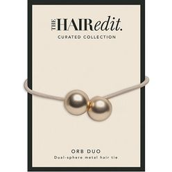 Soft Gold Orb Duo Hair Tie