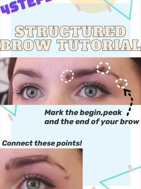 4 steps structured-brow tutorial