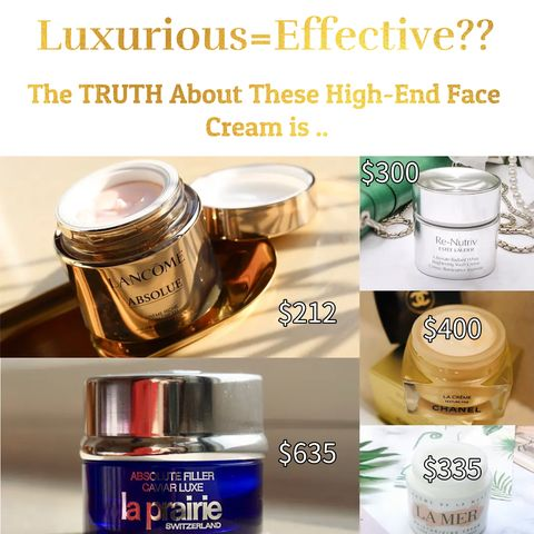 Face Creams Over $200😲😲😲 Are They Worth The Price❓❓