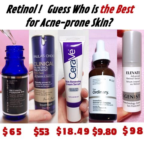 💖💖I've tried 5⃣ hyped RETINOL products and here is my personal ranking...