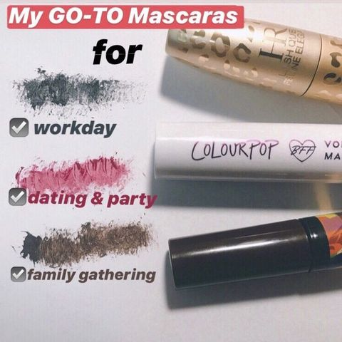 My GO-TO mascaras for…