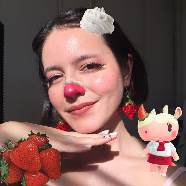 Turning myself into Merengue from ACNH 🍓