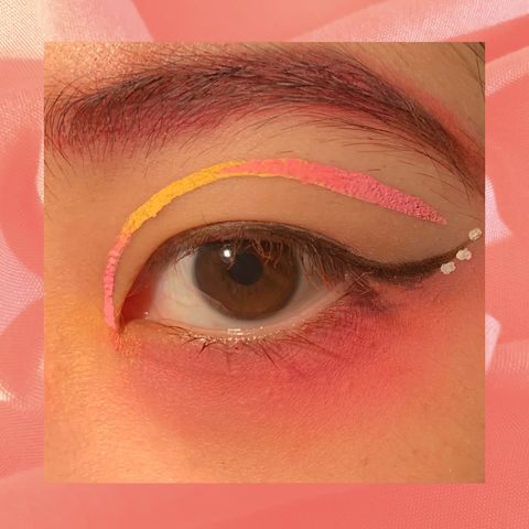 Neon Pink & Yellow Eye Look