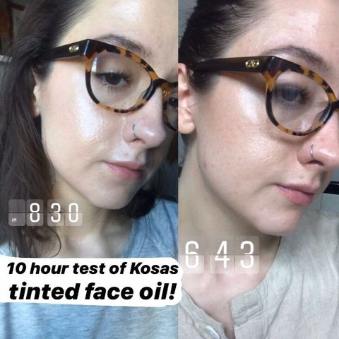 10 hours of Kosas tinted face oil!