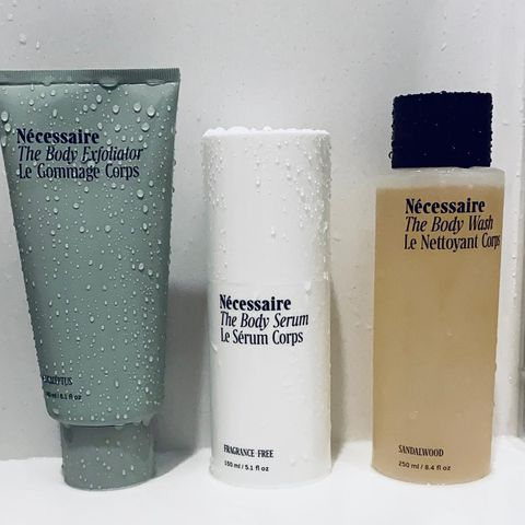 My New Shower Products by NÉCESSAIRE