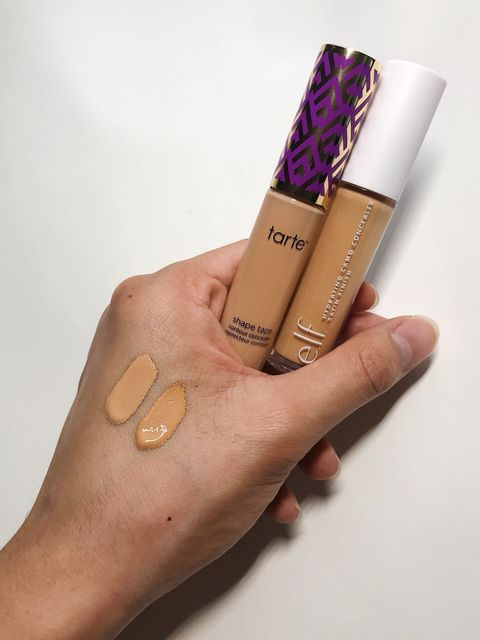 Dupe: Tarte Shape Tape vs Elf Camo Concealer