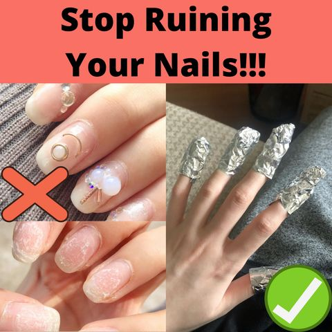❌Stop Peeling nails! The right way to remove acrylic nails is...