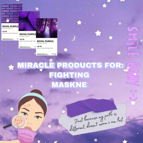 MASKNE FIGHTING SKINCARE PRODUCTS 🙋🏻‍♀️✨