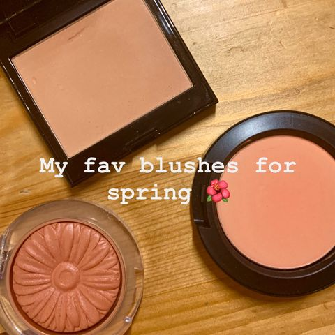 My favorite blushes for spring🥰