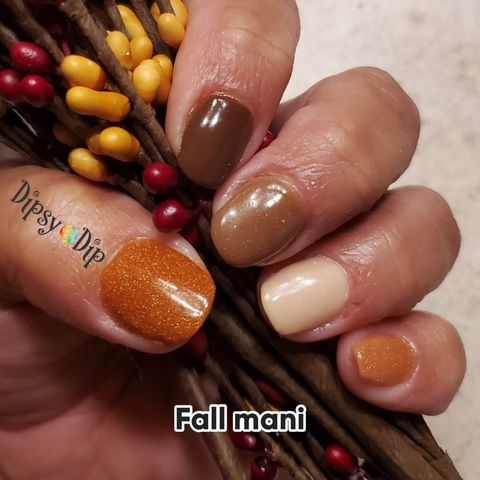 $3 Fall Mani is GORGEOUS!