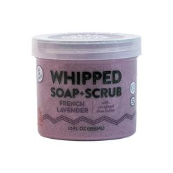 Whipped soap+scrub FRENCH LAVENDER