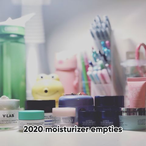 All my lovely moisturizers emptied in 2020