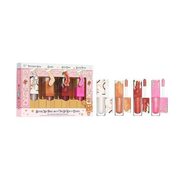 Better Not Pout, But If You Do Keep it Glossy RICH & DAZZLING CHRISTMAS TREATS GLOSS SET, Too Faced, cherie