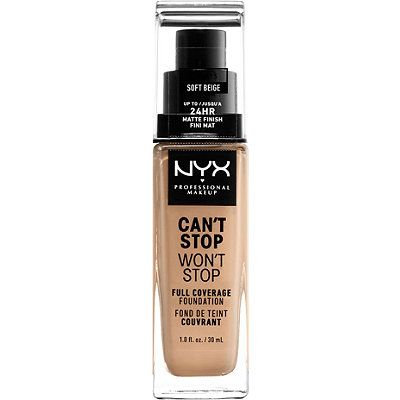 Can't Stop Won't Stop Liquid  Foundation, NYX, cherie