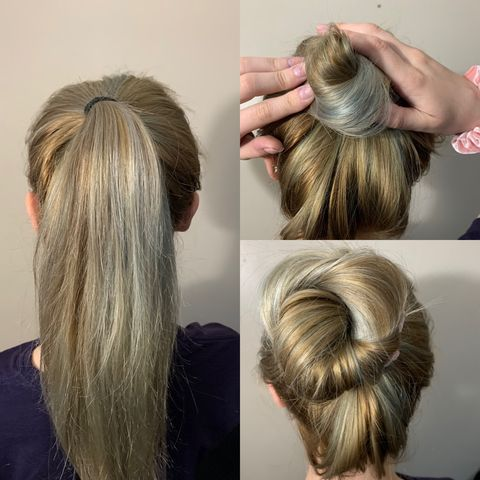 Simple 3 Step Hair Bun👱🏼‍♀️