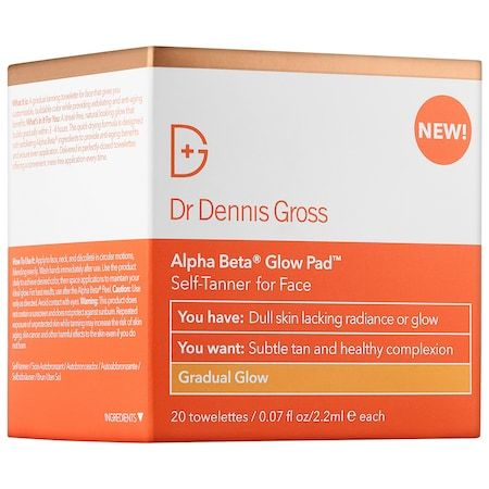 Alpha Beta Gradual Glow Pad Self-Tanner for Face, Dr Dennis Gross, cherie