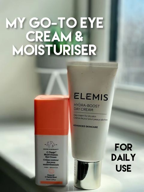 My go-to eye cream and moisturiser for daily use