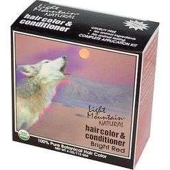 Natural Hair Color and Conditioner, Bright Red
