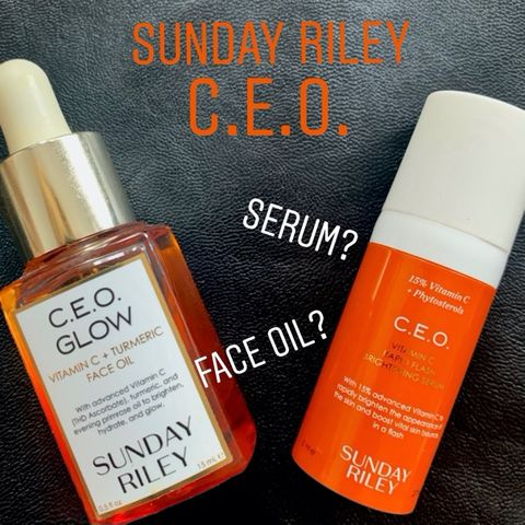 Sunday Riley C.E.O. collection: serum or oil?