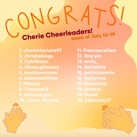 This week's Cherie Cheerleaders! (7/20)