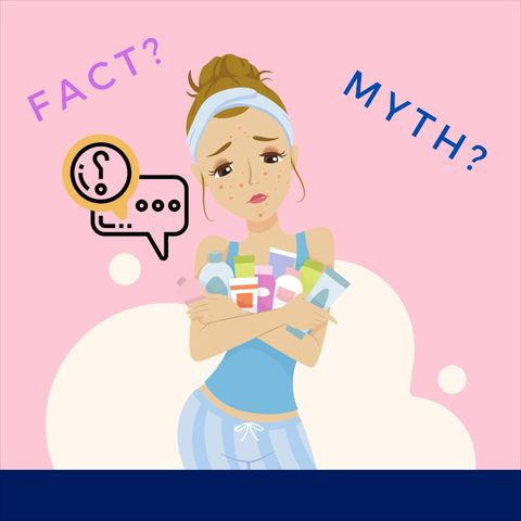 Acne: 4 facts and 6 myths. Can you tell which is which?