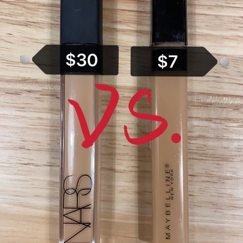 MAYBELLINE Fit Me! VS. NARS Radiant Concealer