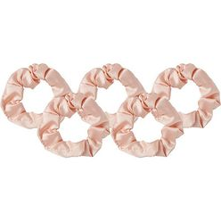 Blush Satin Scrunchies