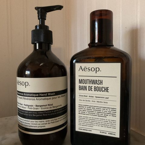 Aesop hand wash and mouthwash!