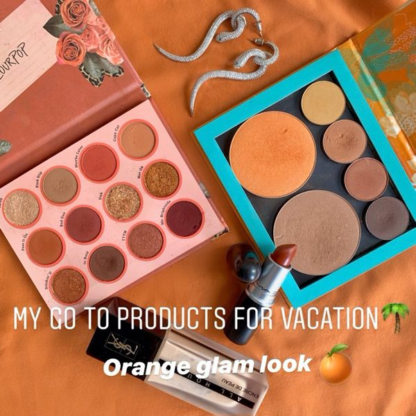 My go-to products for vacation-Orange makeup   Cherie
