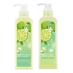 Love Me Bubble Bath & Shower Gel + Love Me Bubble Body Lotion Set Bergamot Citrus