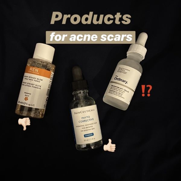 Three products for acne scars: which is better? | Cherie
