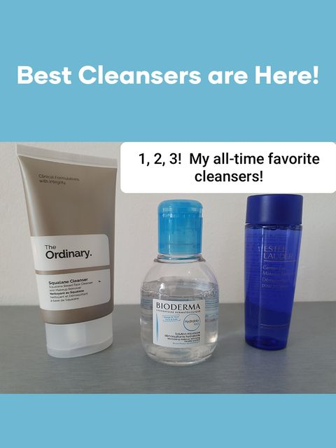 1, 2, 3 - My all-time favorite cleansers