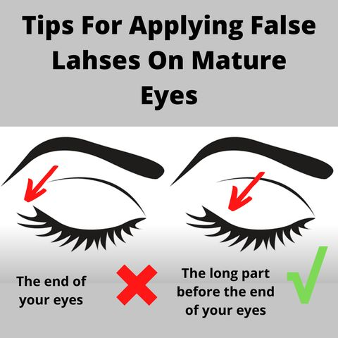 A simple trick of false lashes for mature eyes