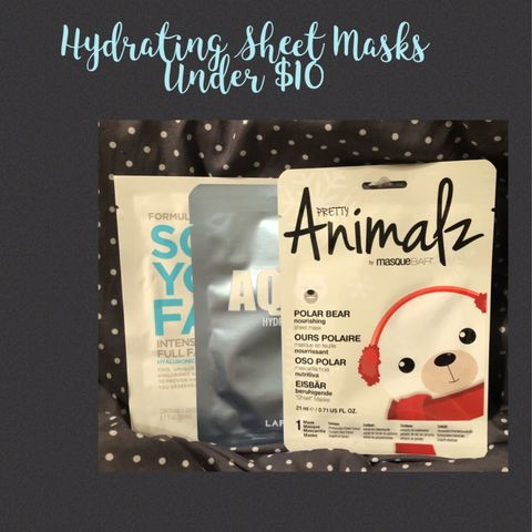 Budget Friendly-Hydrating Sheet Masks under $10