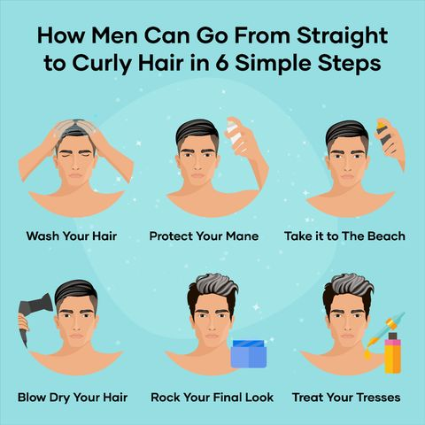 How Men Can Go From Straight to Curly Hair in 6 Simple Steps