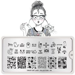 Stamping Plate Crazy Cat Lady