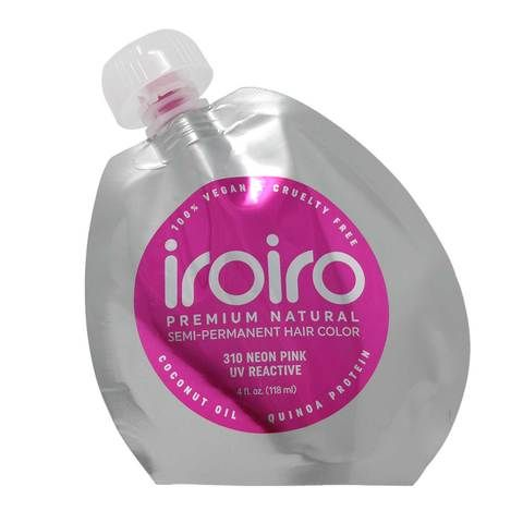 310 UV Reactive Pink Neon Vegan Cruelty-Free Semi-Permanent Hair Color, iroiro, cherie