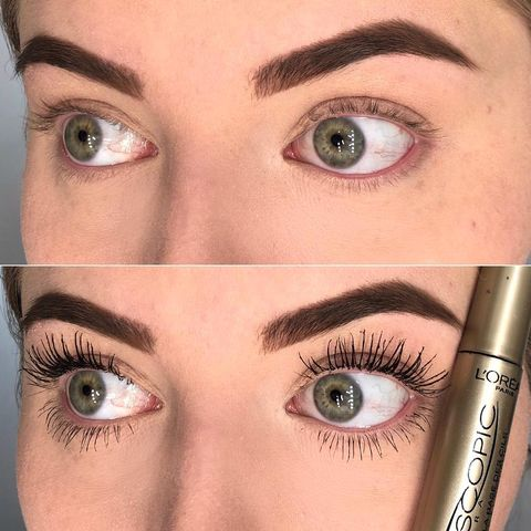 Mascara before& after Pictures