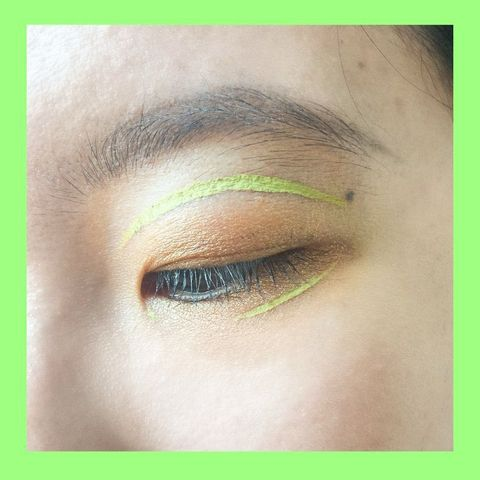 Lime Eyeliner Look for Monolids