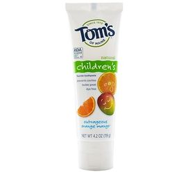 Natural Children's Fluoride Toothpaste, Outrageous Orange Mango