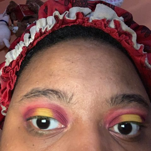 My first halo eye look