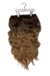 """Miracle Makeover HD Fibre Clip In Hair Extensions - 14'' & 22"""" - Medium Brown Ombre"""