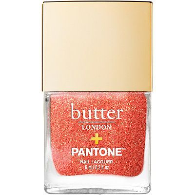 Pantone Color of the Year 2019 Glazen Peel-Off Glitter Nail Lacquer, butter LONDON, cherie