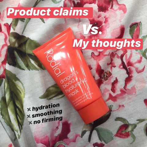 Rodial Hyaluronic dragons blood mask🍊