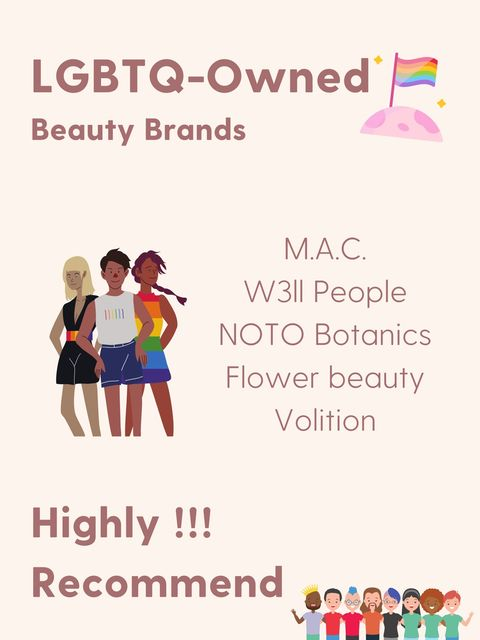 Beloved LGBTQ OWNED 🌈 beauty brands. Use them in ur rainbow makeup!