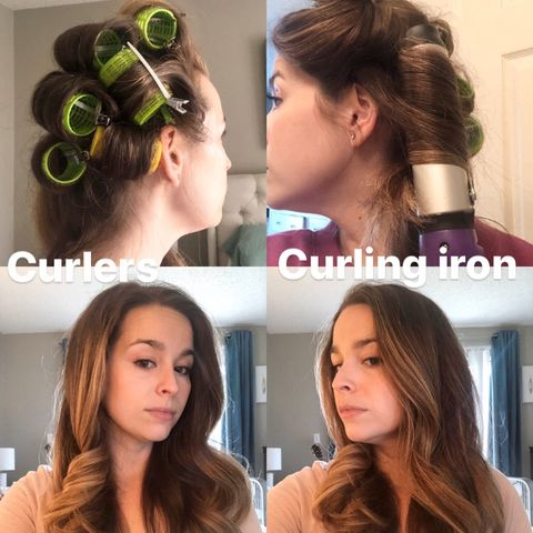 Curlers Vs Curling iron!