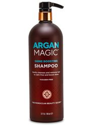 Shine Boosting Shampoo Gently Cleanses and Restores Hair to Calm Frizz and Boost Shine