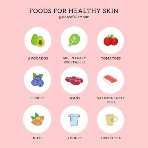 Foods for beautiful healthy skin